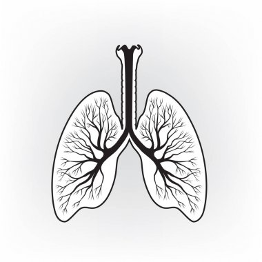 hand-drawn lungs sign