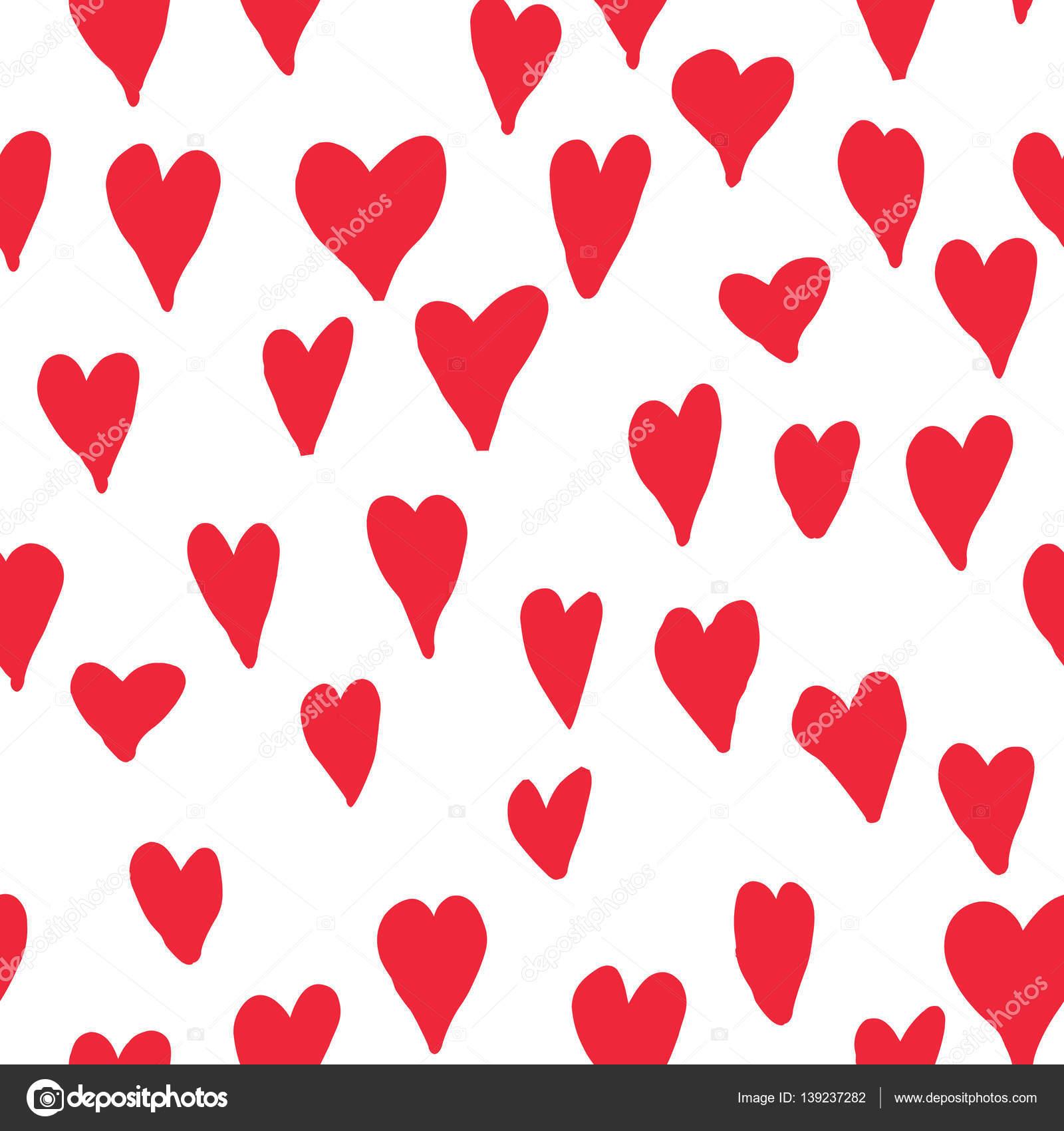 patrón sin costuras corazones rojos — Foto de stock © YokoDesign ...