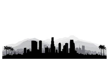 Los Angeles, USA skyline.
