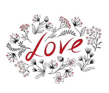 Calligraphic Doodle Love Sign