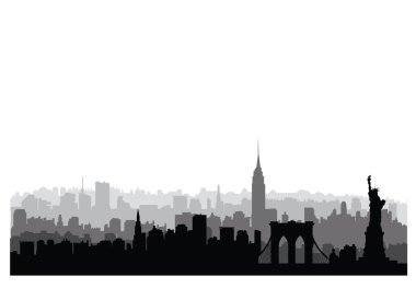 New York City buildings silhouette