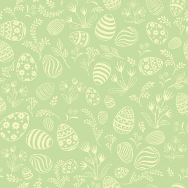 Easter eggs seamless pattern.