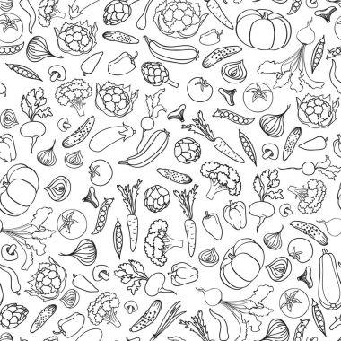 Food ingredient seamless pattern