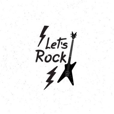 Rock music logo icon