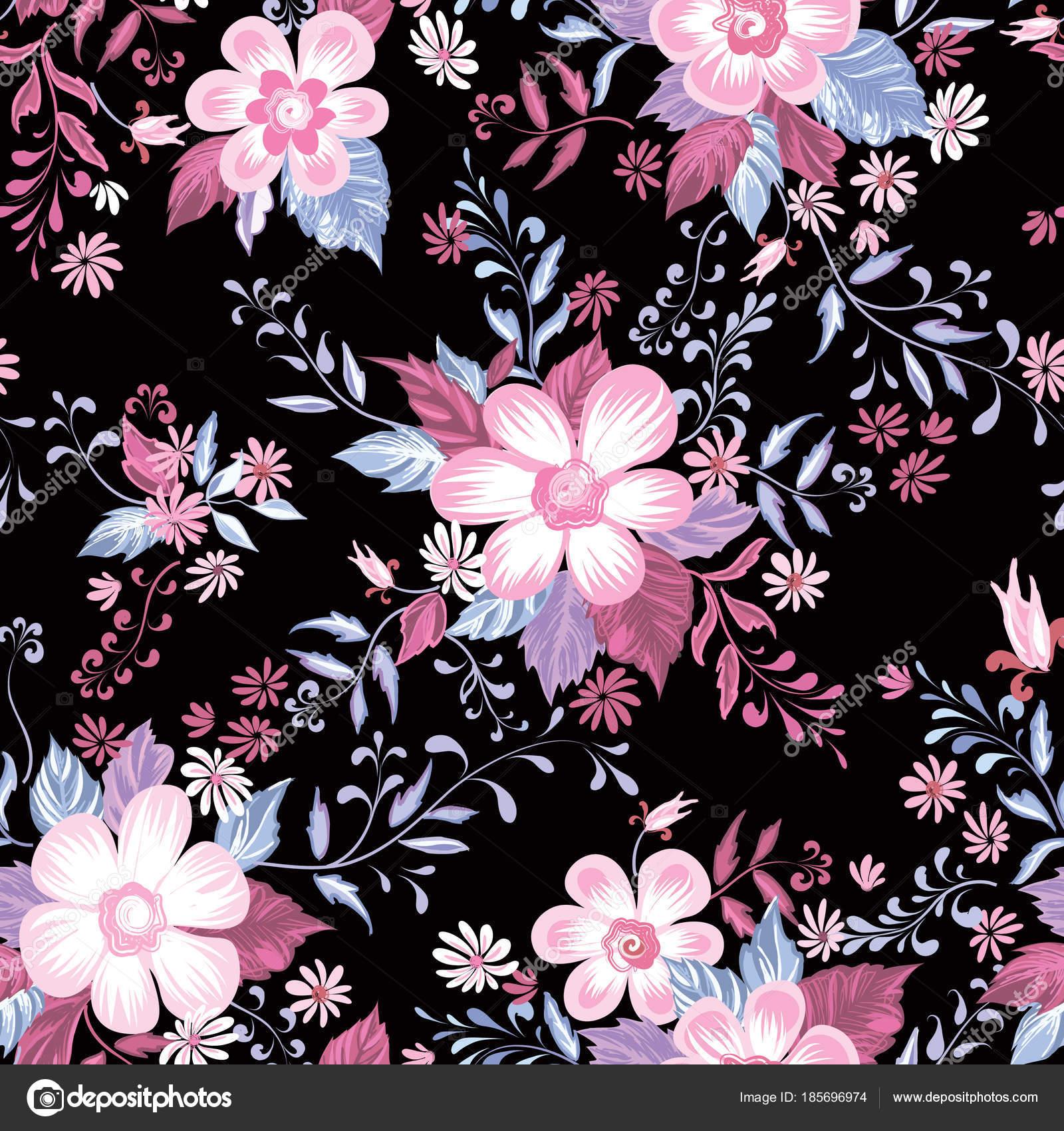 Patrón Transparente Floral