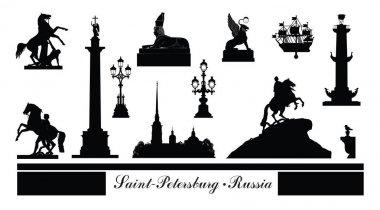 St. Petersburg city symbol set