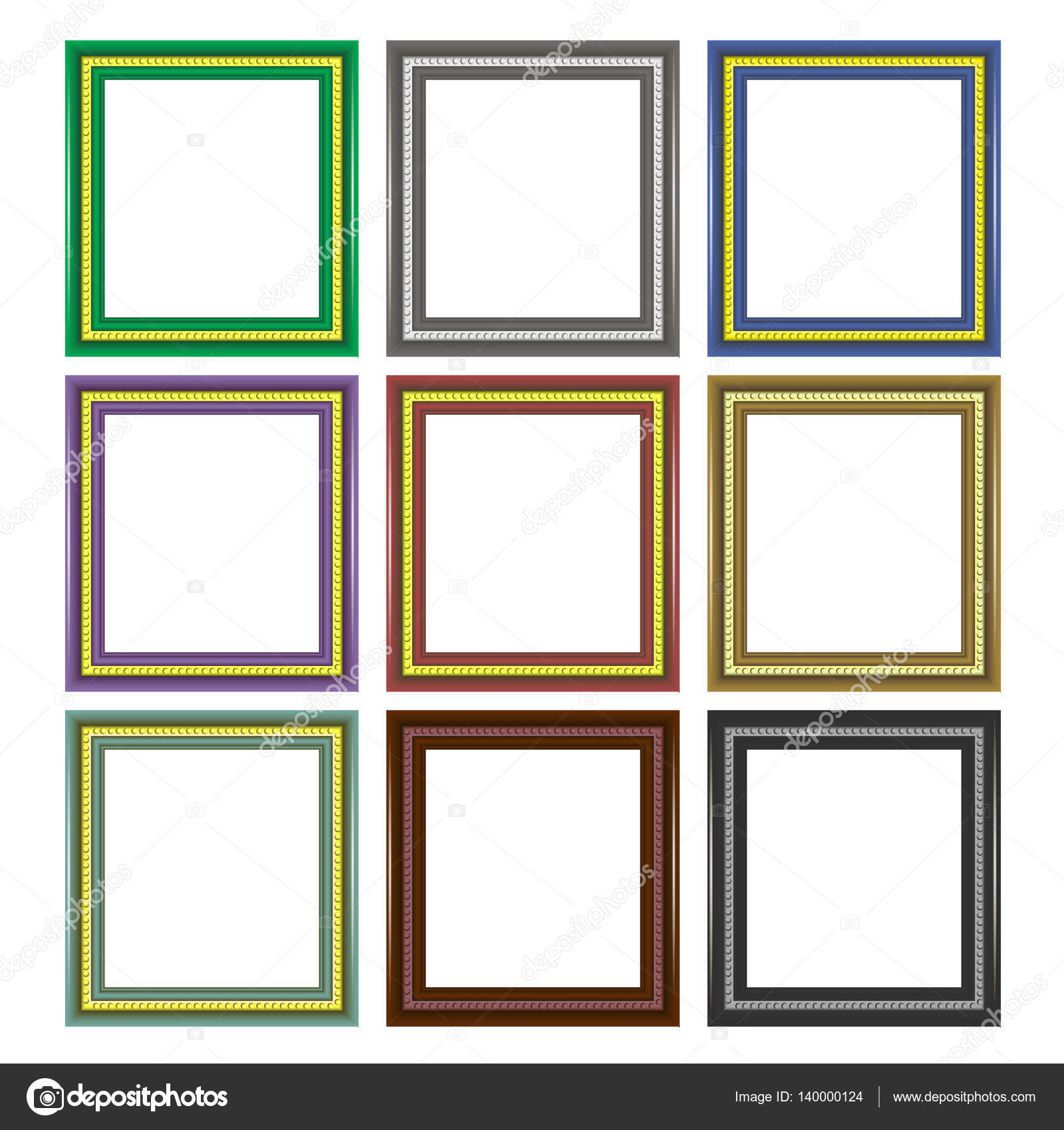 Set of Colorful Wooden Frames — Stock Vector © valeo6 #140000124