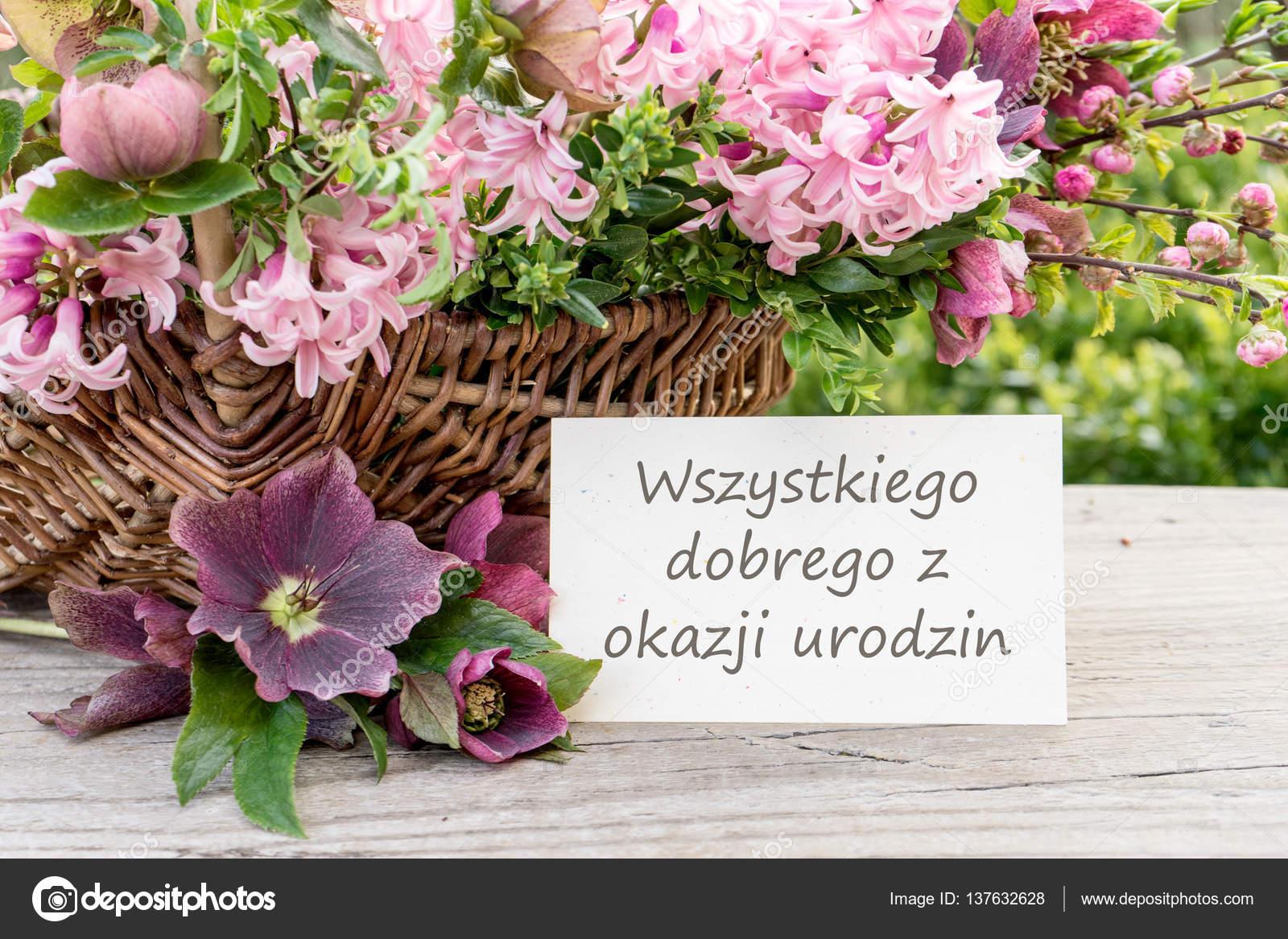 grattis på födelsedagen polska Polska födelsedagskort — Stockfotografi © coramueller #137632628 grattis på födelsedagen polska