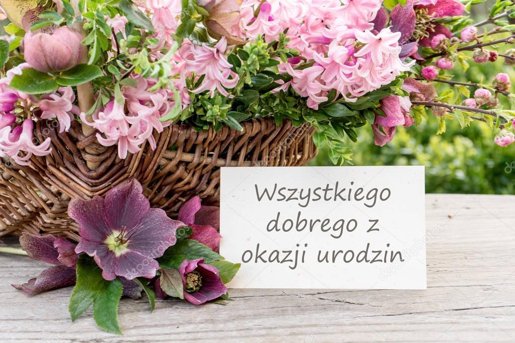 С днем рождения открытка на польском, днем рождения папе