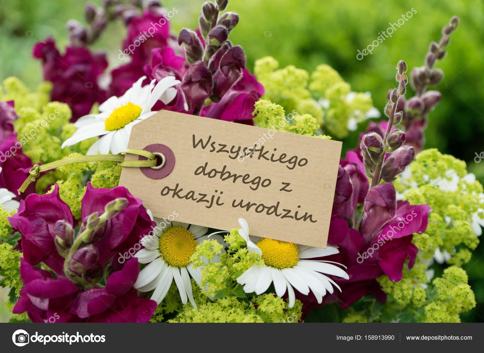 grattis på födelsedagen polska Polska födelsedagskort — Stockfotografi © coramueller #158913990 grattis på födelsedagen polska