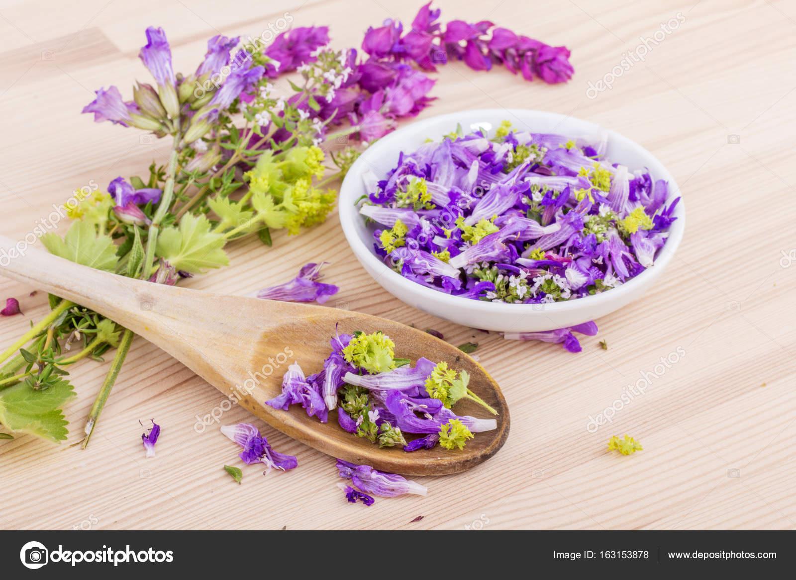 Violet Edible Flowers Stock Photo C Coramueller 163153878