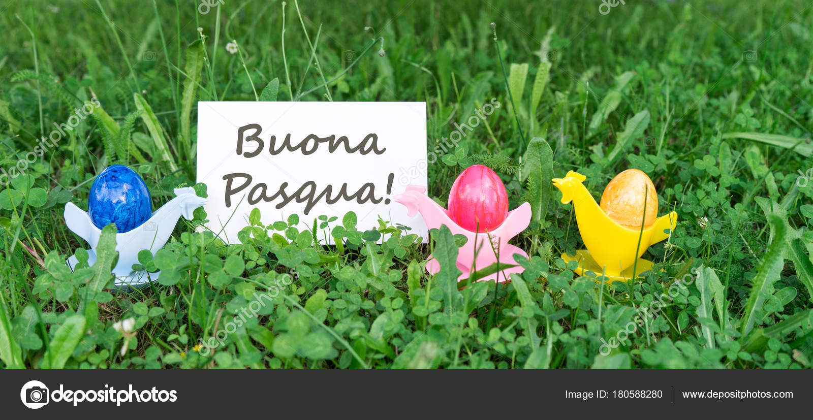 Easter card colorful easter eggs italian text happy easter stock easter card colorful easter eggs italian text happy easter stock photo kristyandbryce Gallery
