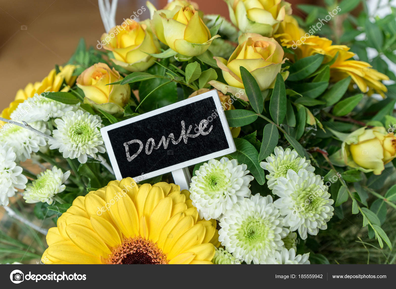Thank You Bouquet Yellow White Roses Gerberas Chrysanthemums Small