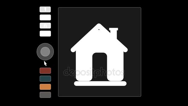 Animation of infographics on the topic of real estate