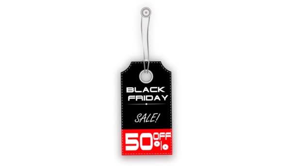 Label-Verkauf Black Friday hängen und schwingen. Bearbeiten Sie Ihren Rabatt. Alpha-Kanal