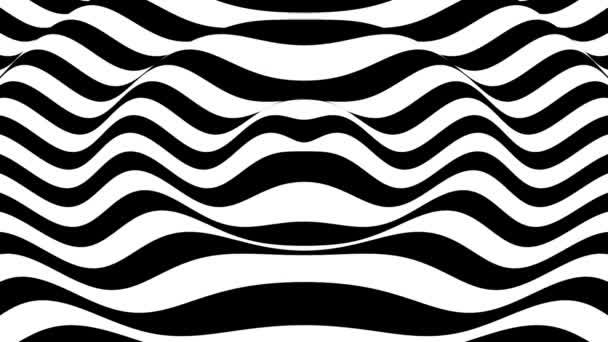 gewellte schwarze und weiße Oberfläche optischer Hintergrundschleife