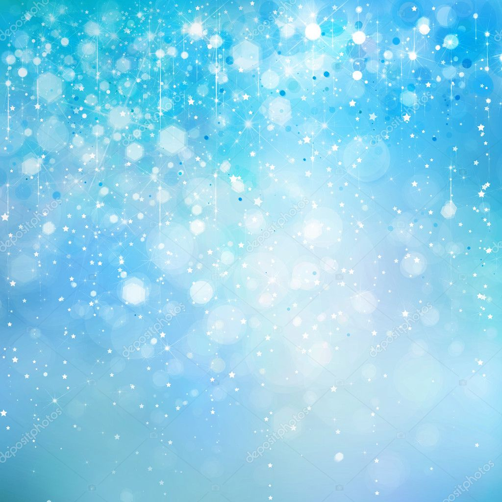 abstract blue sparkle glitter background � stock photo