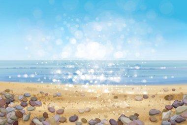 ocean and sandy beach