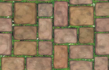 Vector seamless texture brown stones  pavement  covered grass. stock vector