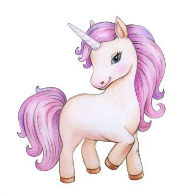 colorful unicorn cartoon isolated on white background
