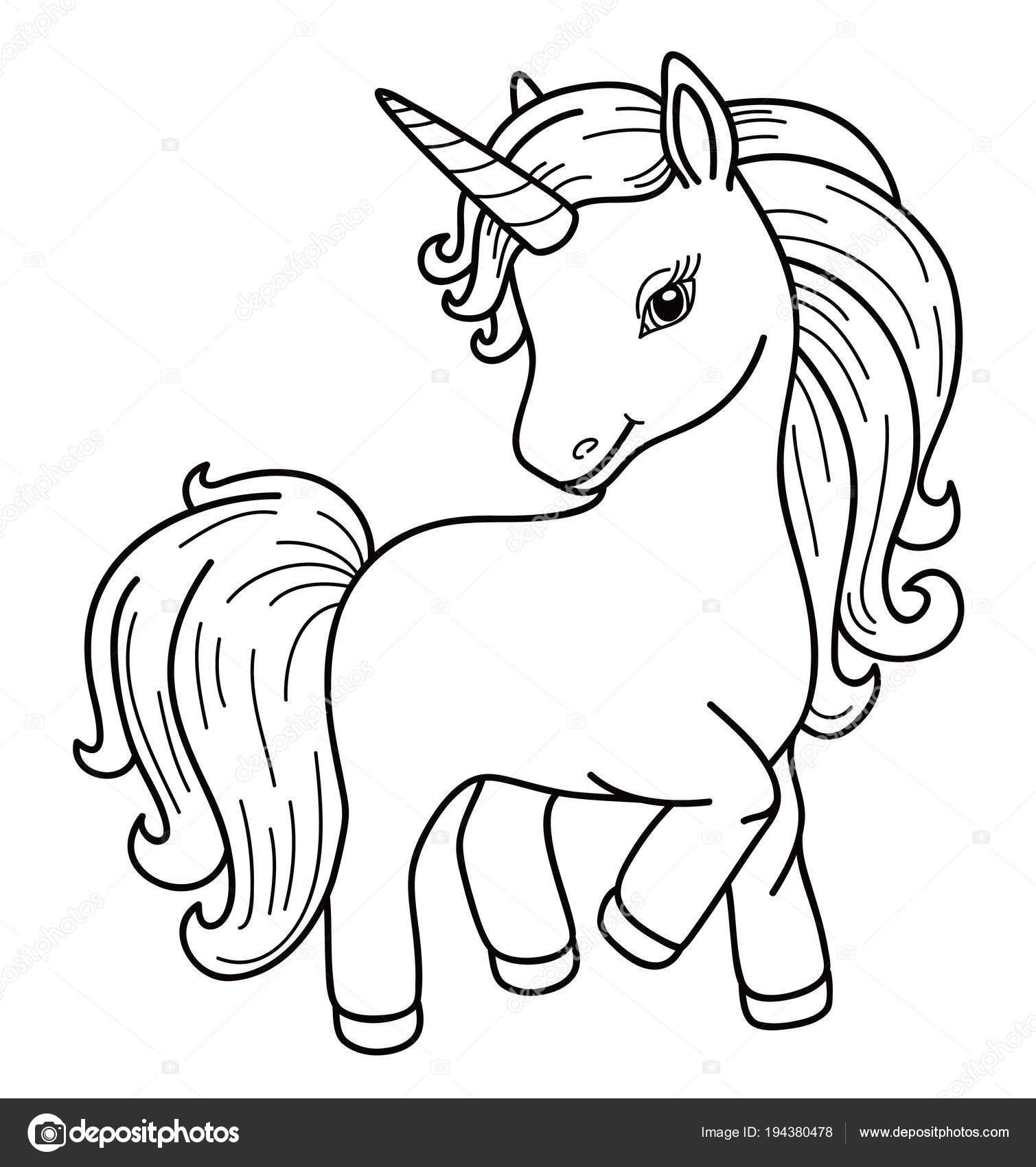 Desenho Unicórnio Fundo Branco Vetores De Stock Rvika 194380478
