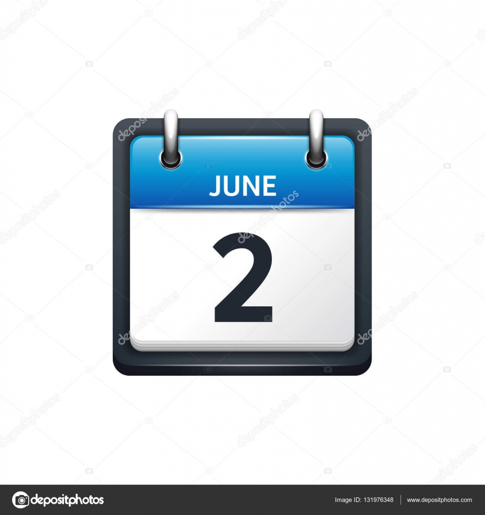 June Calendar Vector : June calendar icon vector illustration flat style month