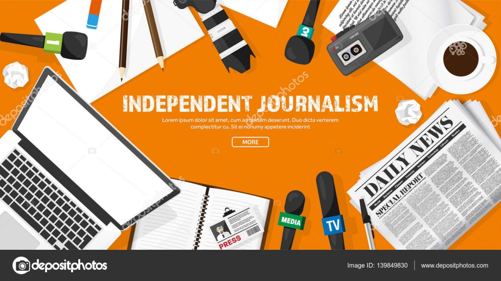 Background Design News Reporter Background