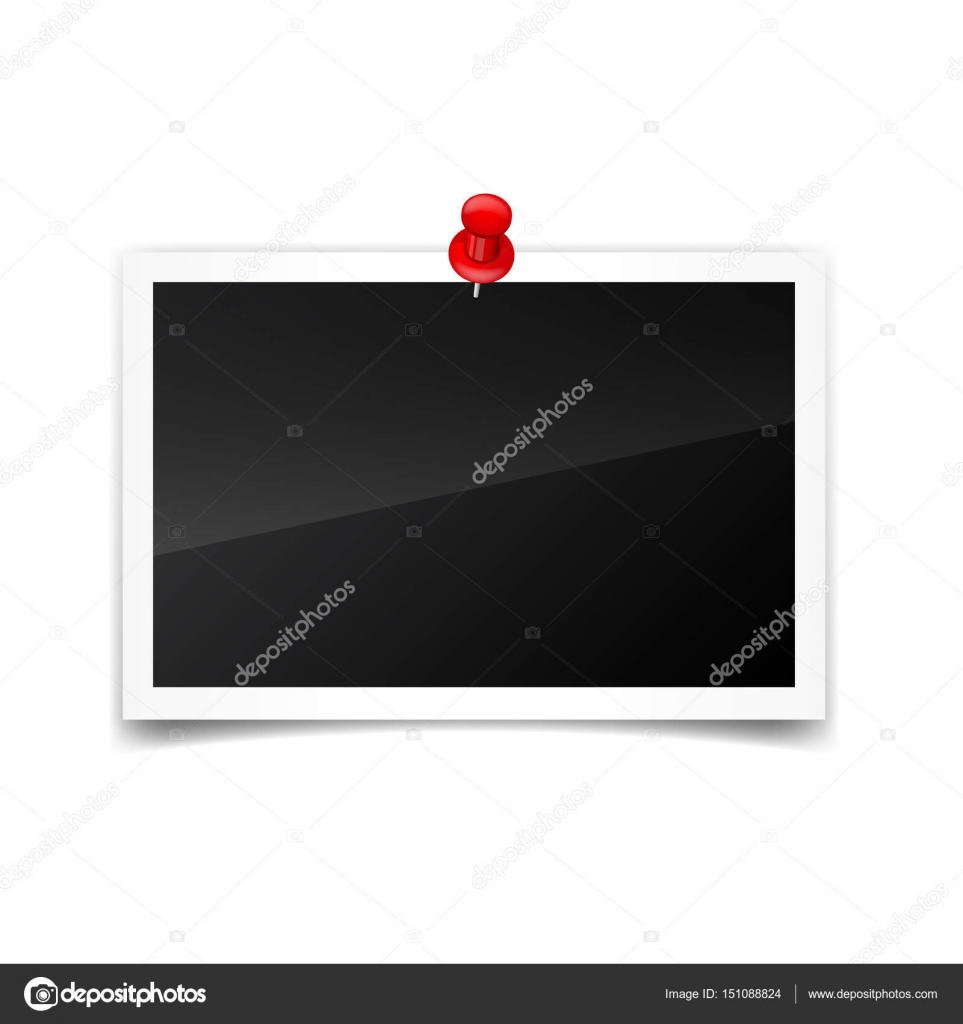 photo card frame film set retro vintage photograph with shadow and