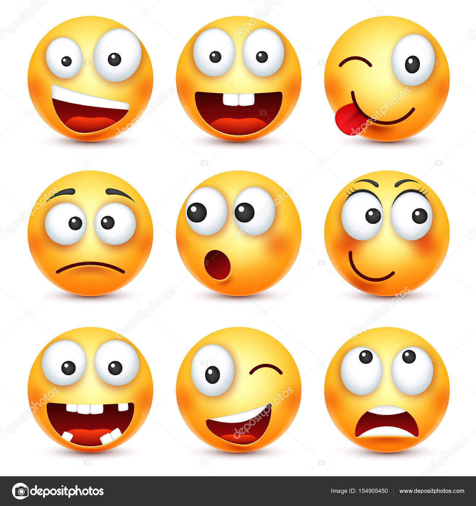 smiley,smiling angry,sad,happy emoticon. yellow face with emotions
