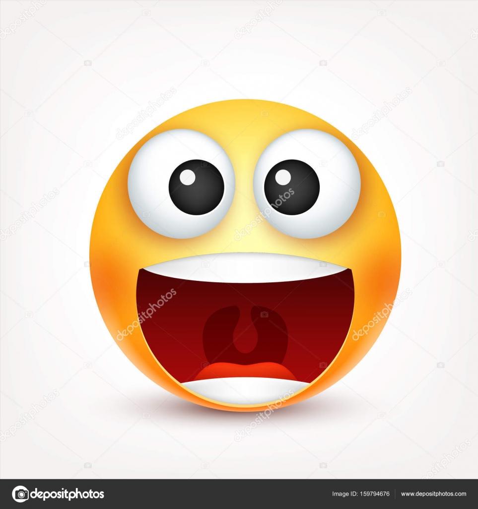 Caras De Terror Animadas Smiley Emoticon Cara Amarilla Con Las