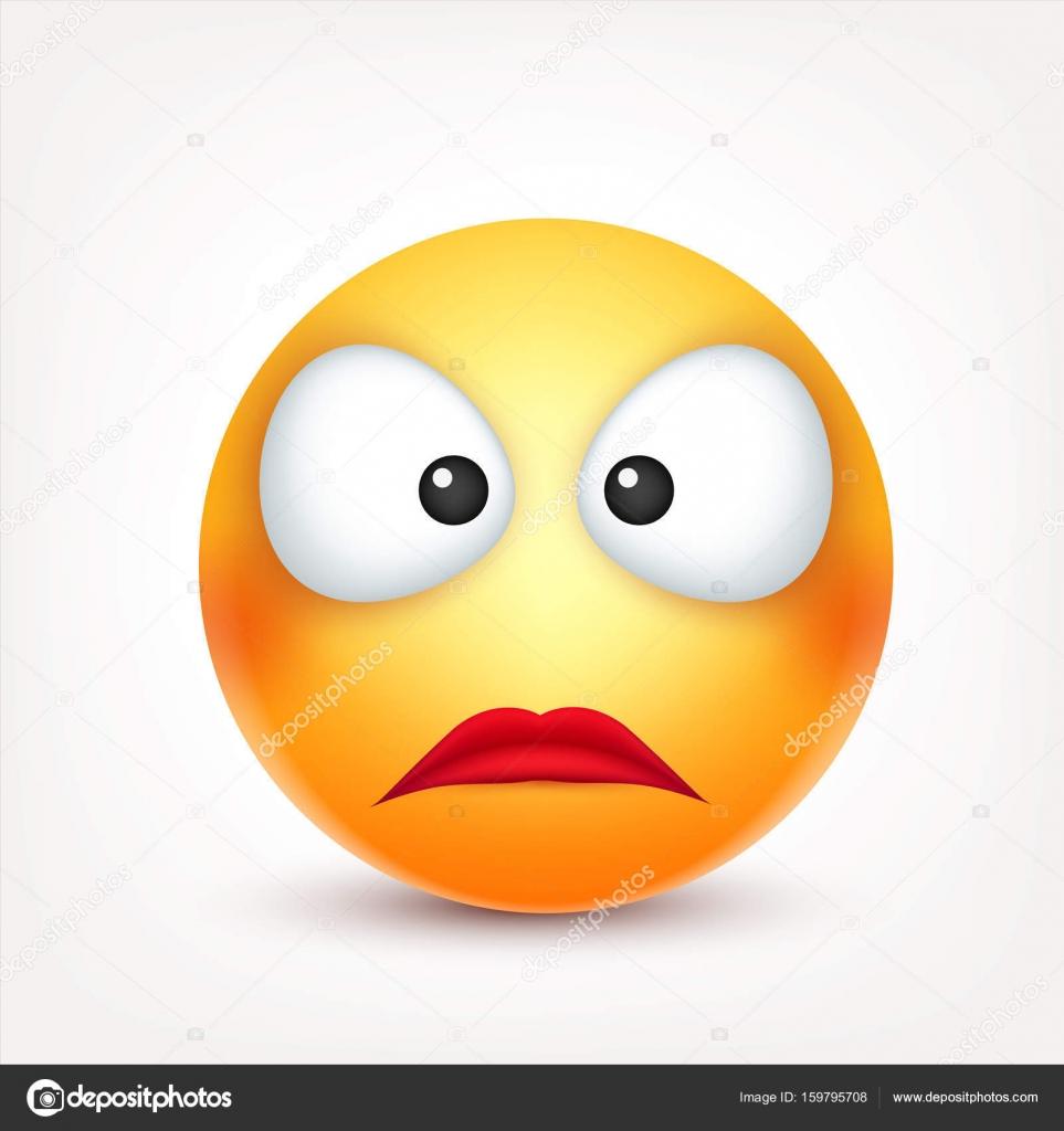 Smiley Emoticon Rosto Amarelo Com Emoções Expressão