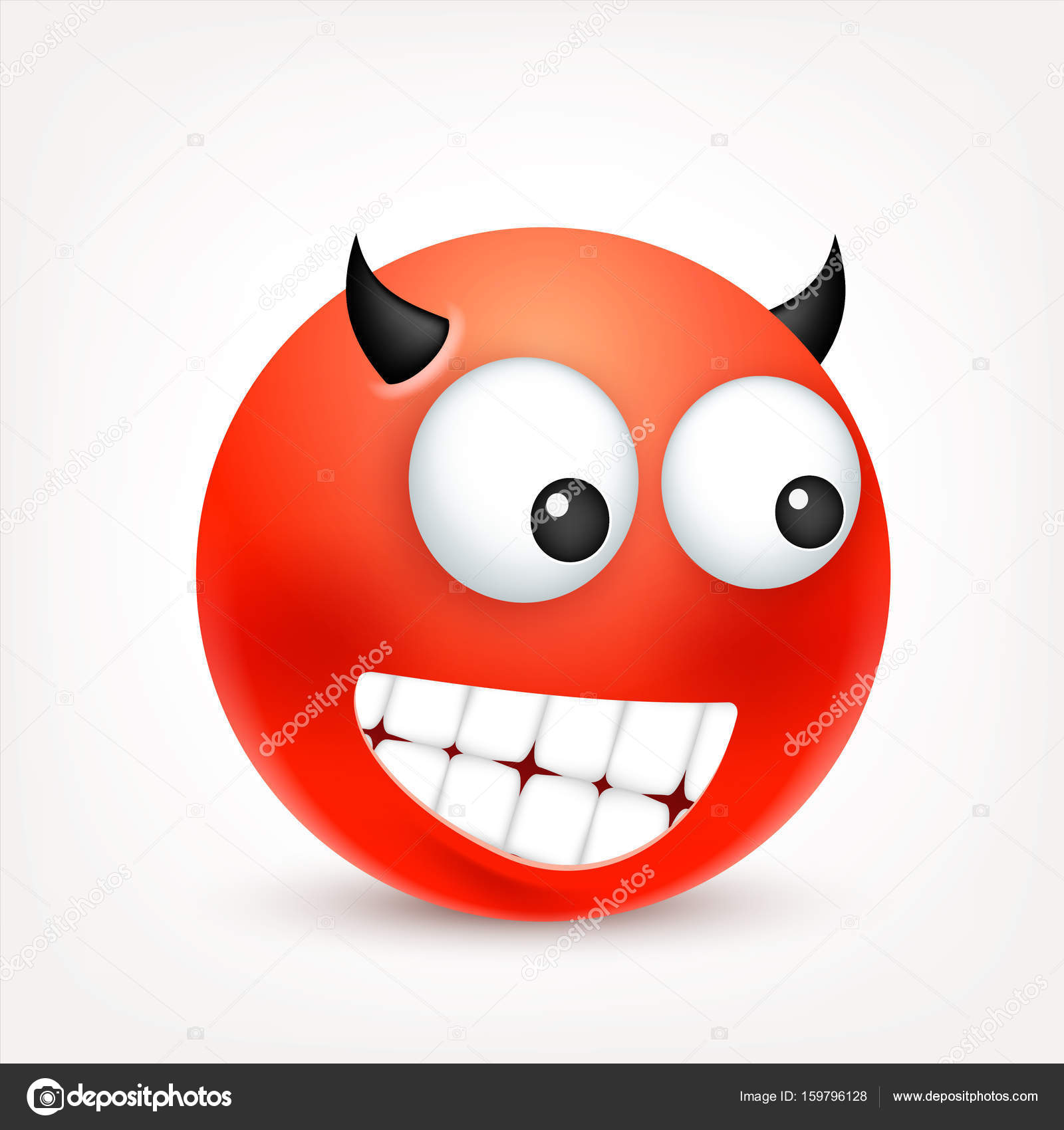 Smile Smiley Rouge Colere