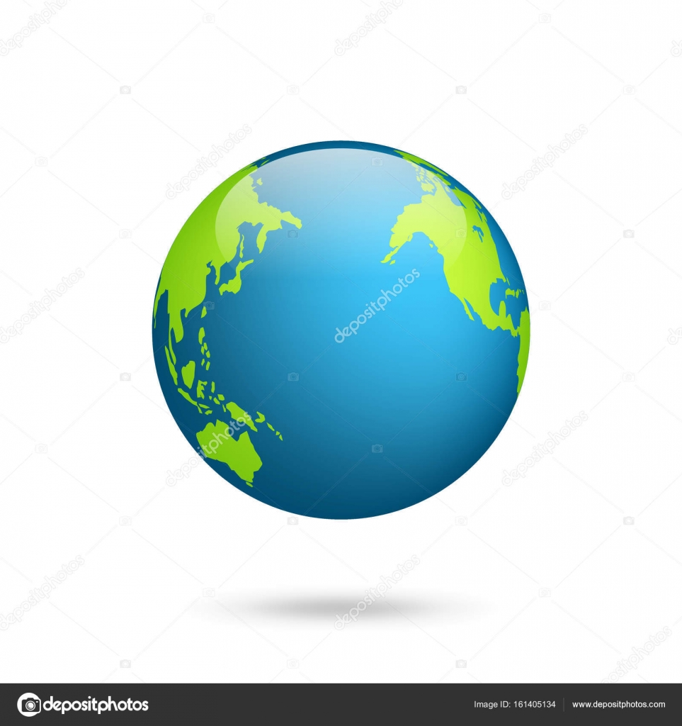 Earth globe. World map set. Planet with continents.Africa ... on map of antarctica globe, map of pacific ocean globe, map of world globe,