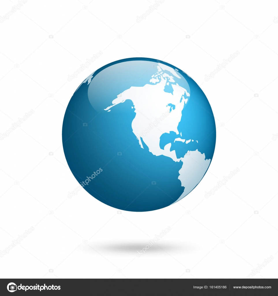 Earth Globe World Map Set Planet With Continents Africa Asia