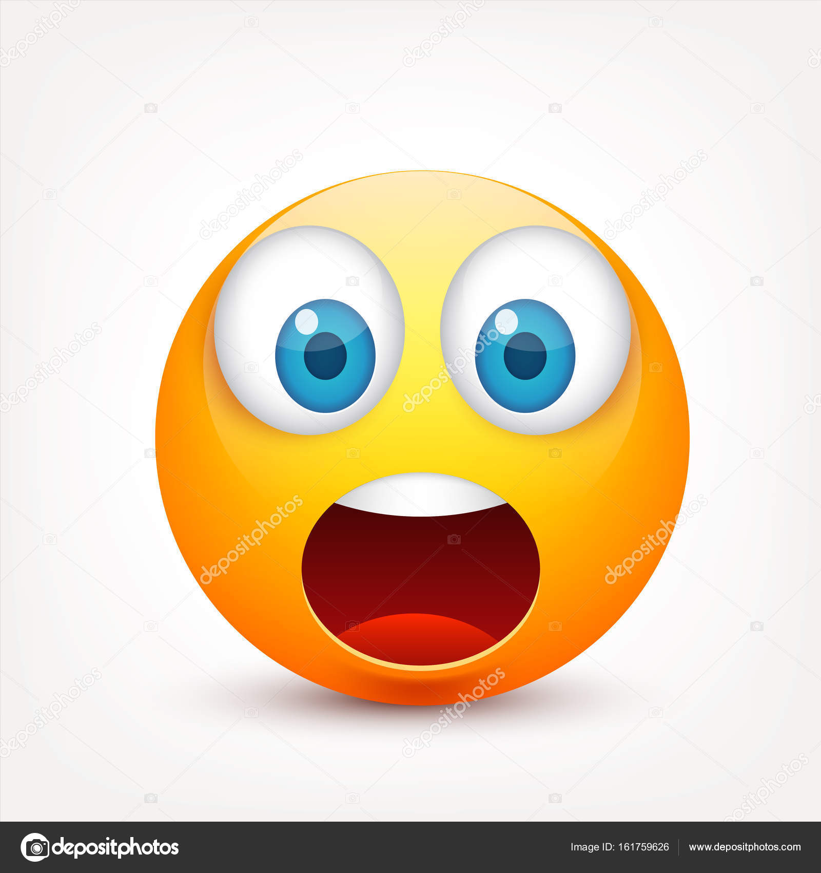 Smiley With Blue Eyes Emoticon Yellow Face With Emotions Facial