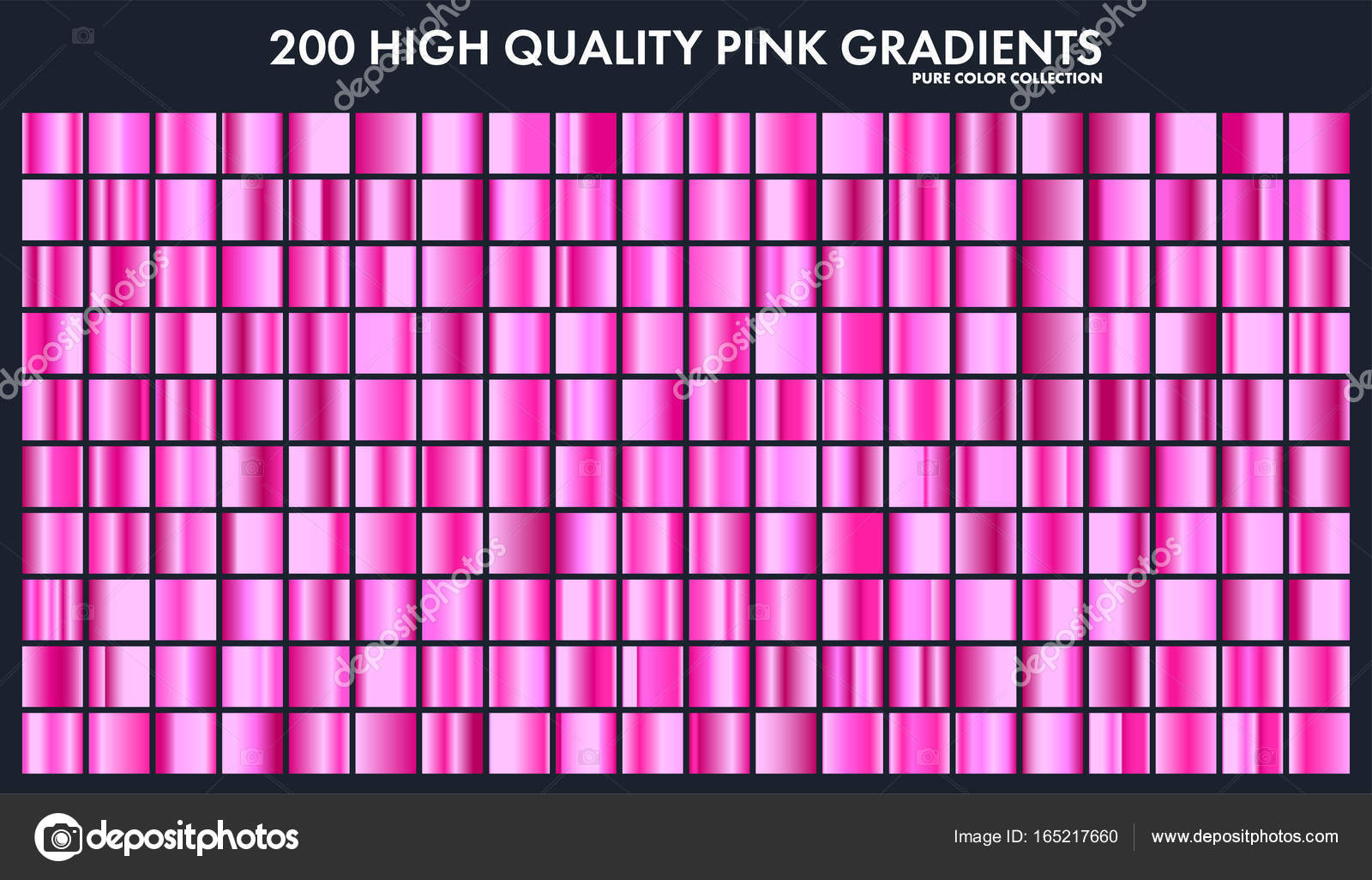 pink chrome gradient set pattern template love colors for design
