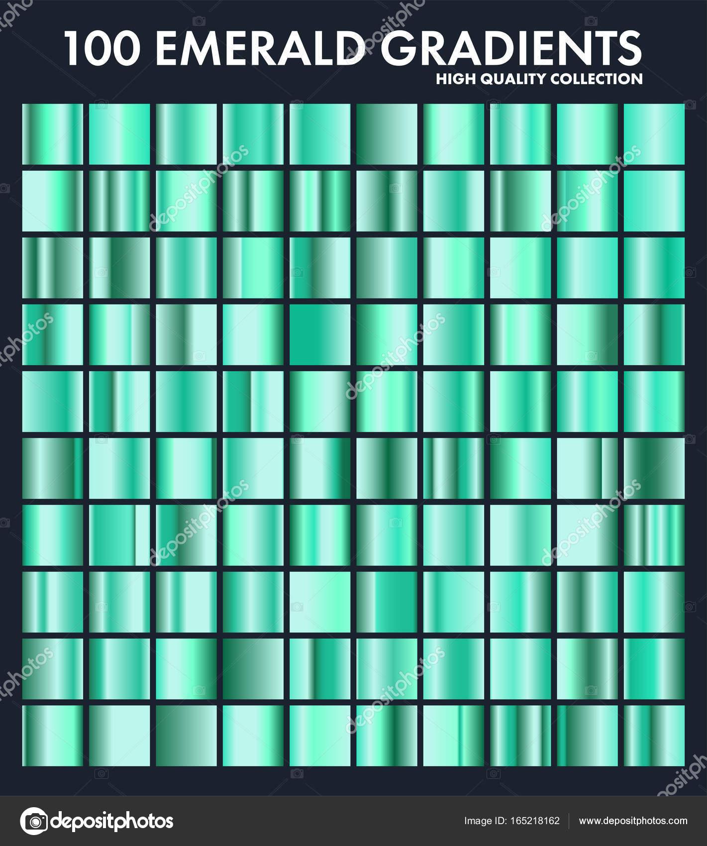 grren emerald chrome gradient set pattern template nature grass