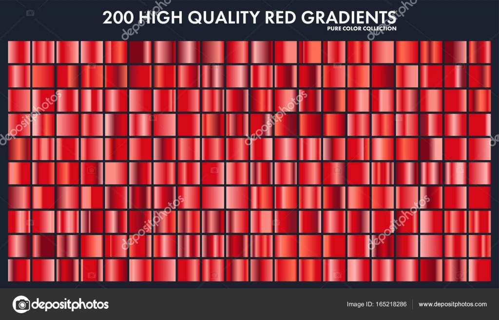 red chrome gradient set pattern template love heart colors for