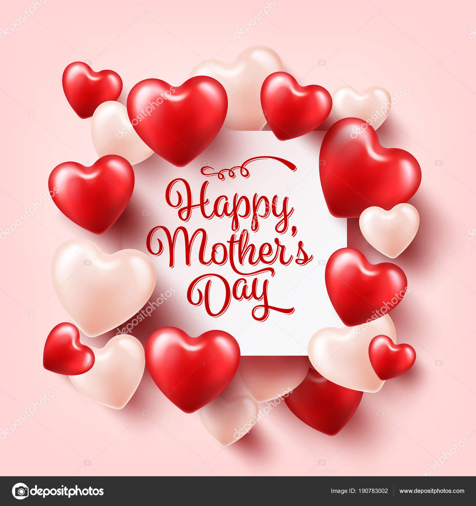 Mothers day background with red hearts greeting card template with mothers day background with red hearts greeting card template with lettering heart shaped m4hsunfo