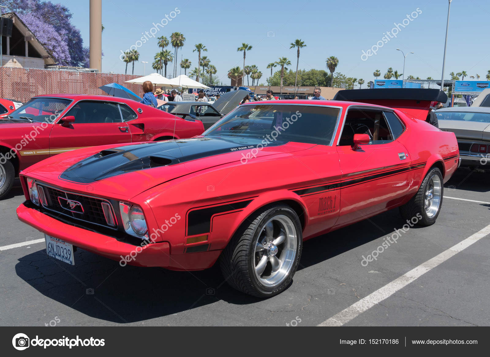 Ford Mustang Mach 1 On Display Stock Editorial Photo