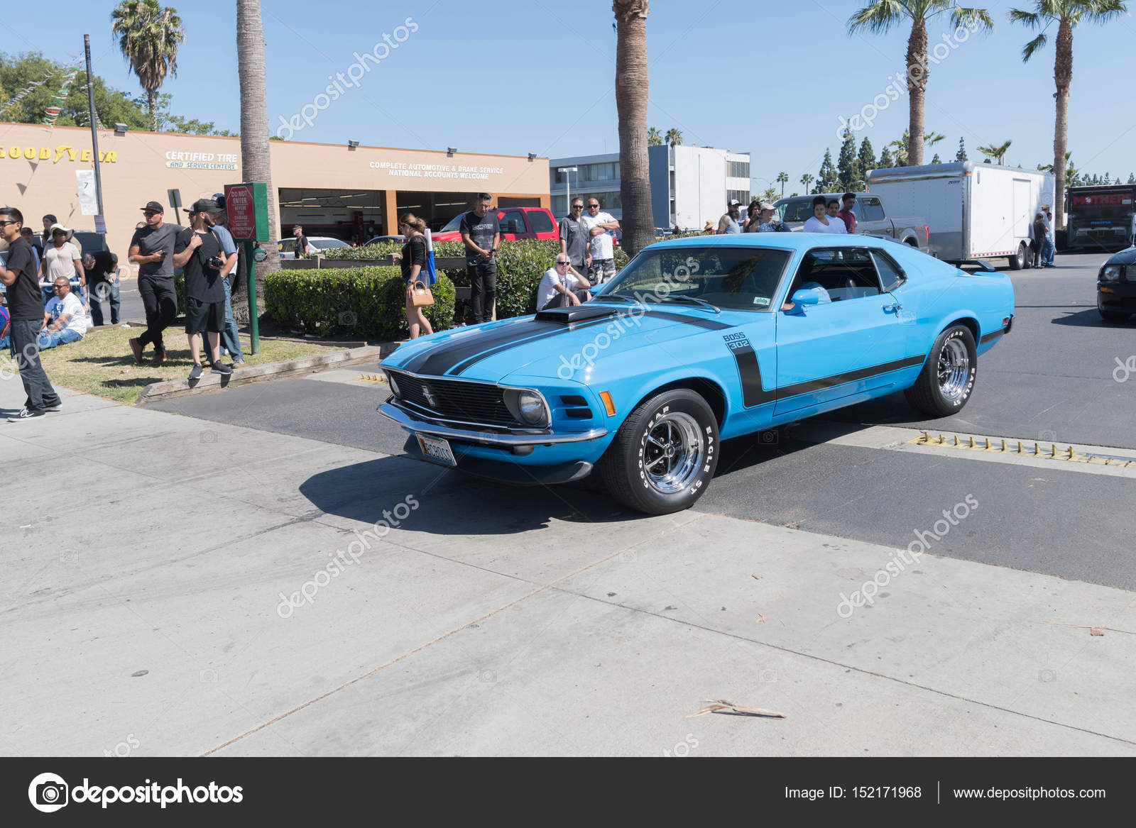 Buena park usa april 30 2017 ford mustang boss 302 on display during the fabulous fords forever photo by