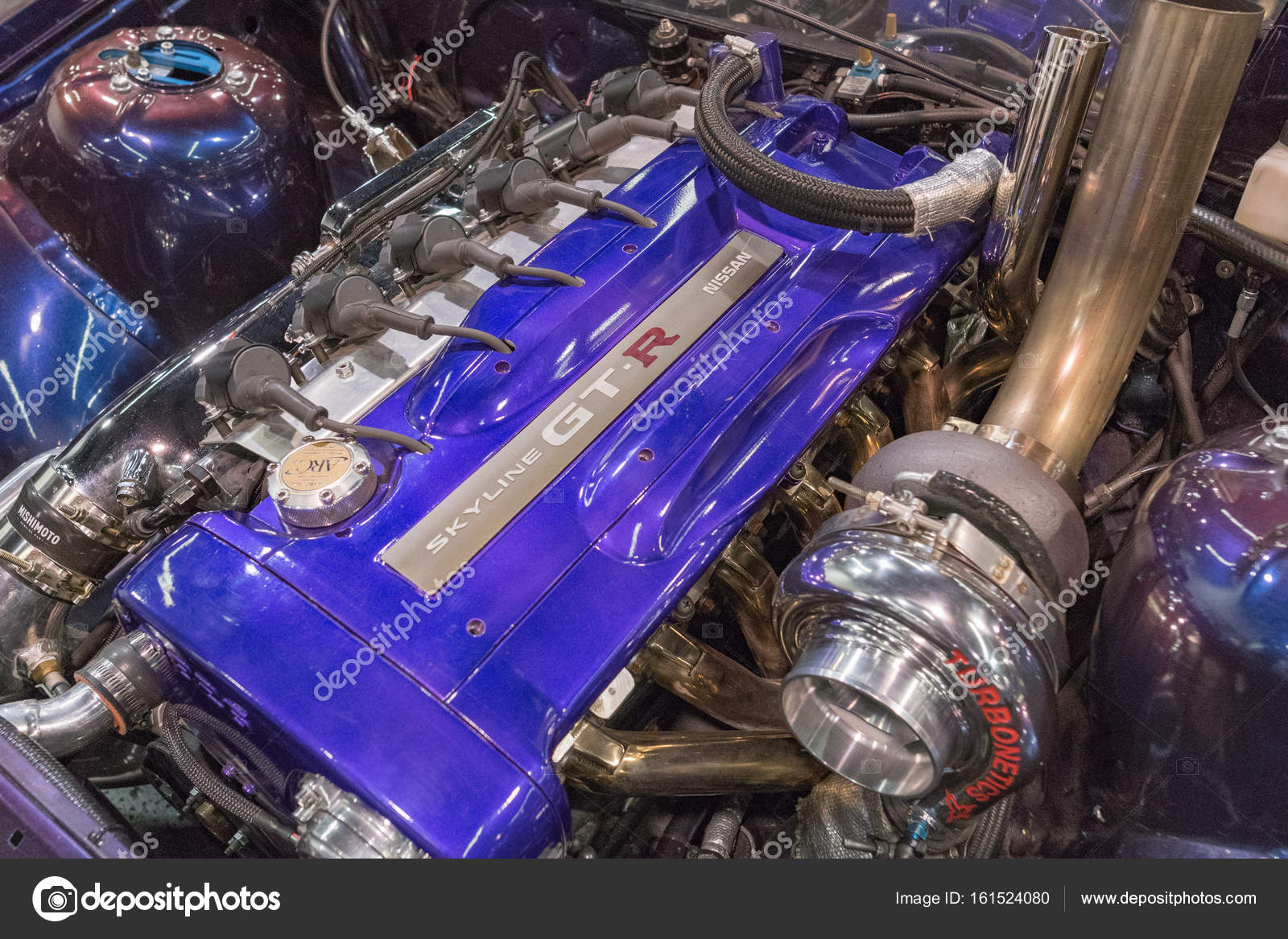 Nissan Skyline Gt R Engine On Display Stock Editorial Photo Spec Anaheim Usa July 22 2017 During Spocom Super Show By Bettorodrigues