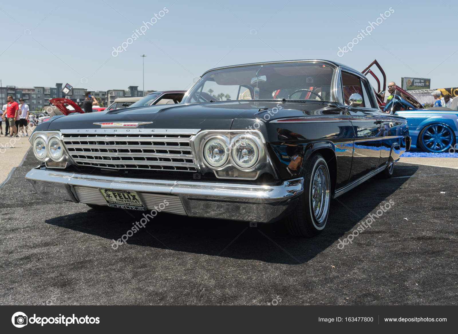 Chevrolet Impala On Display During DUB Show Tour Stock Editorial - Angel stadium car show