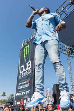 O.T. Genasis, American rapper artist during DUB Show Tour