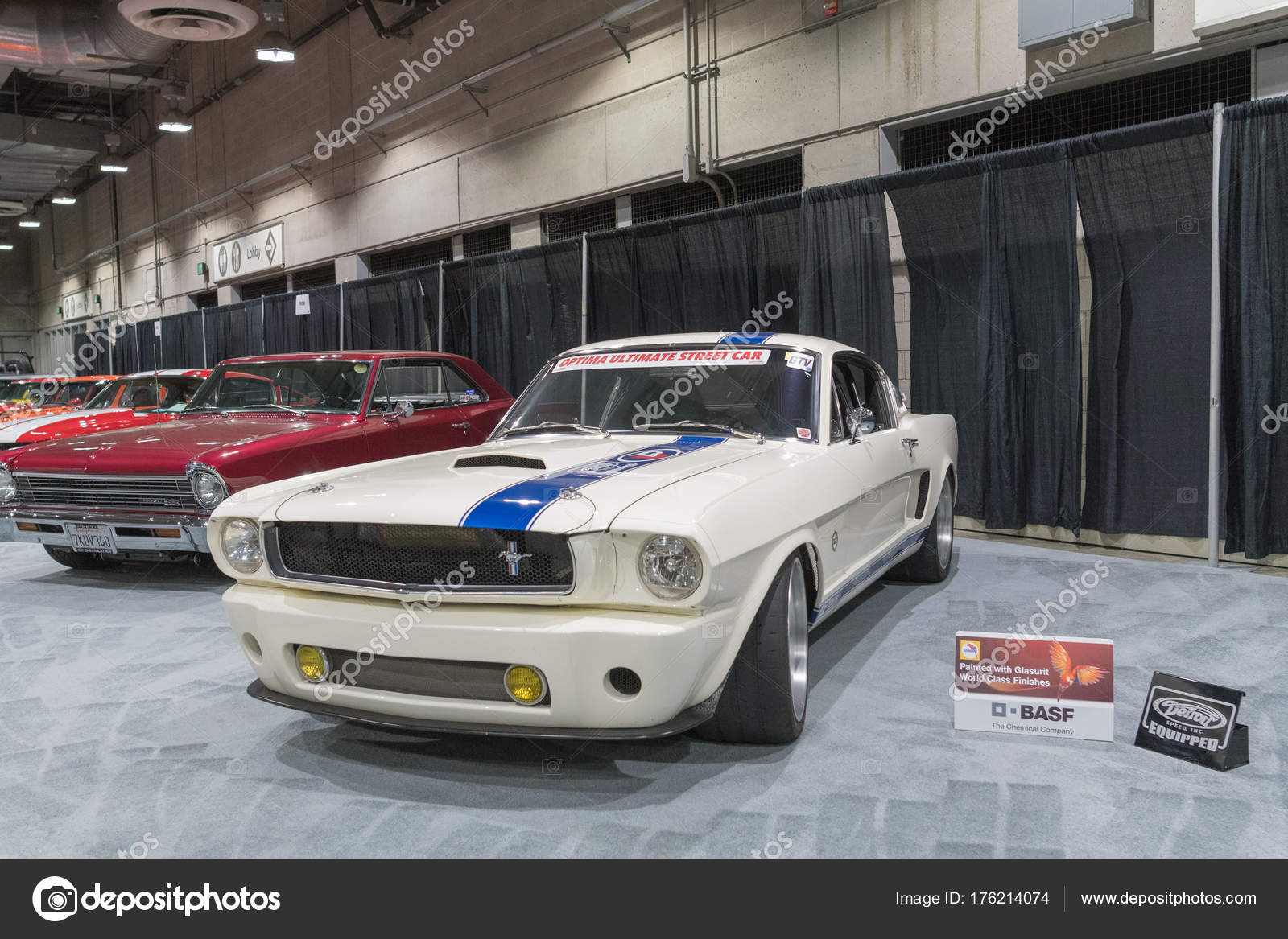 Muscle Car Garage on display during LA Auto Show – Stock Editorial ...