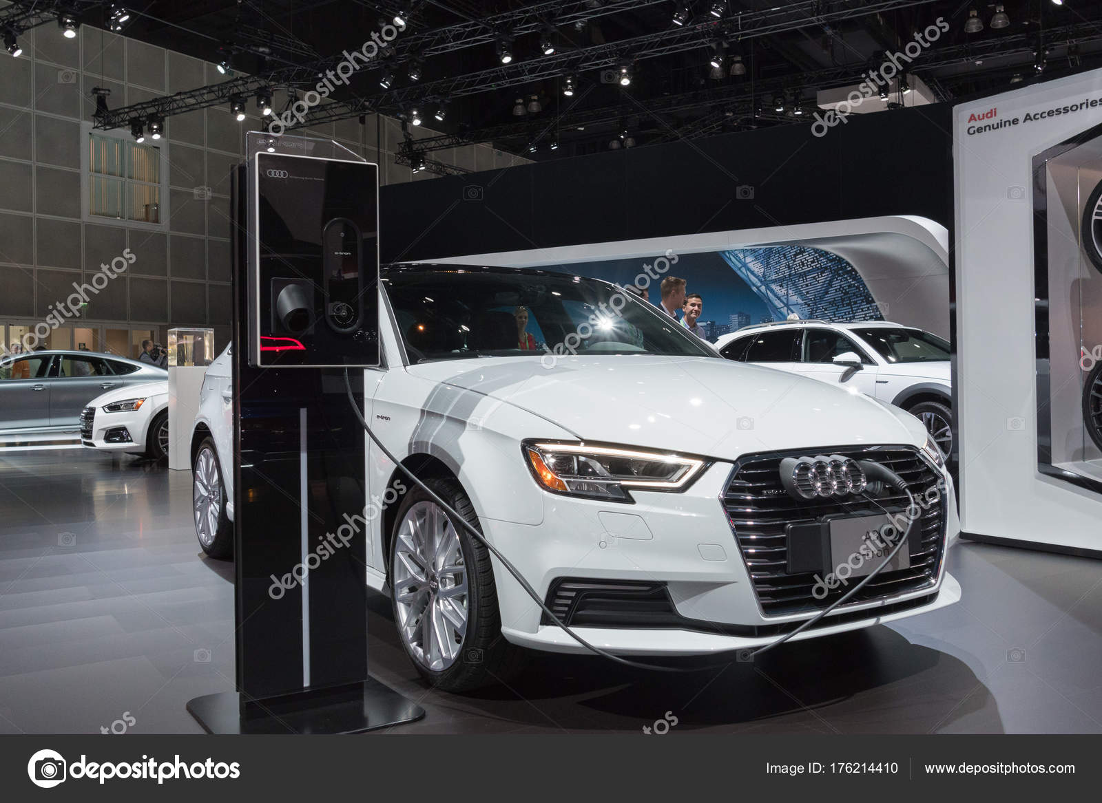 Audi A Etron On Display During LA Auto Show Stock Editorial - Car show display accessories
