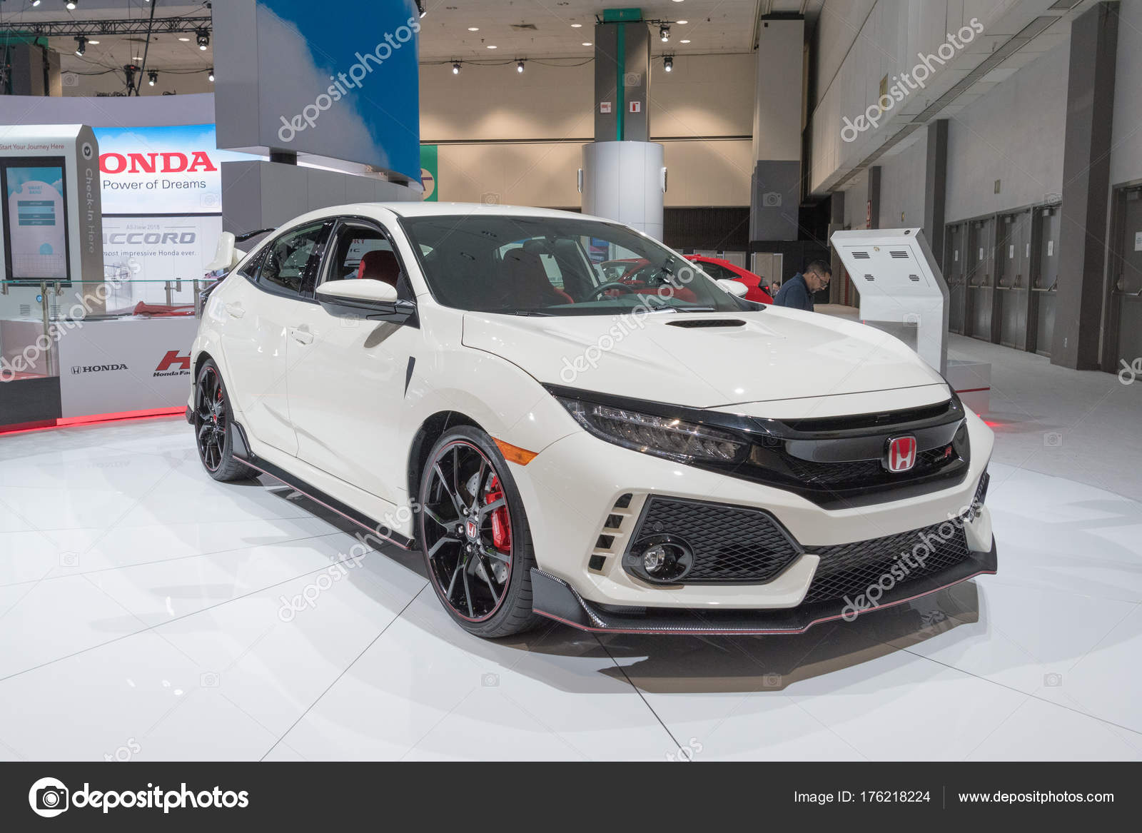 Honda Civic Hatchback On Display During LA Auto Show Stock - Civic center car show