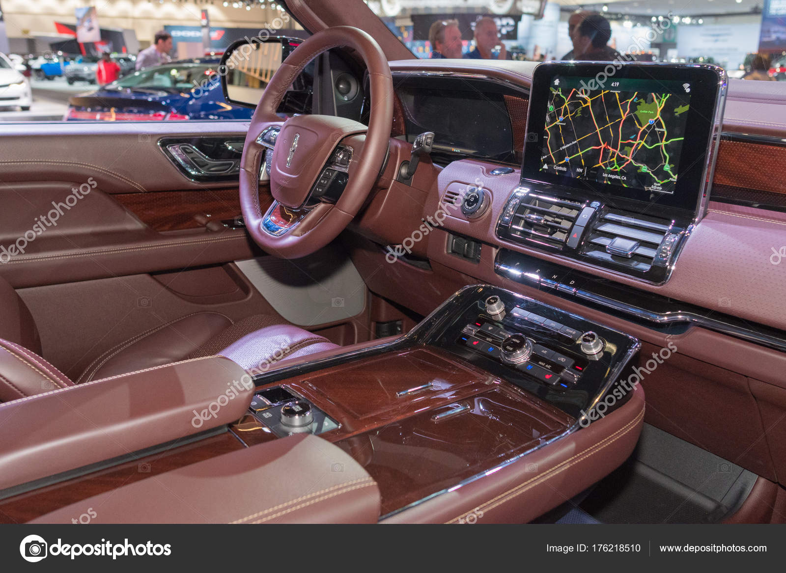 Lincoln Navigator Interior On Display During LA Auto Show U2014 Stock Photo Images