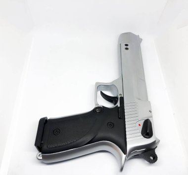 Various Pattern Pistols, White Background