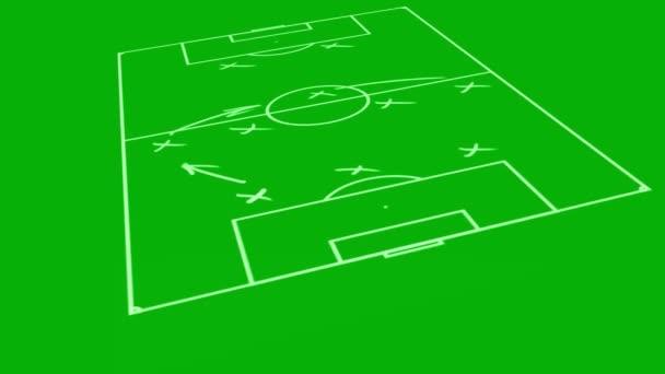 Taktikai stratégiai program foci játék animáció a fedélzeten
